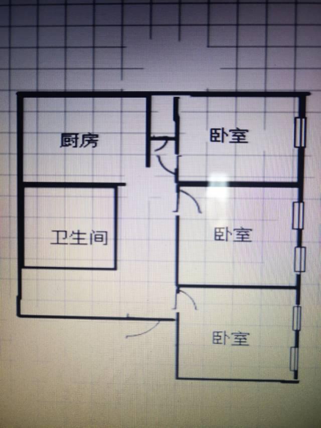 34街区3室1厅1卫79.5平方1650元/月