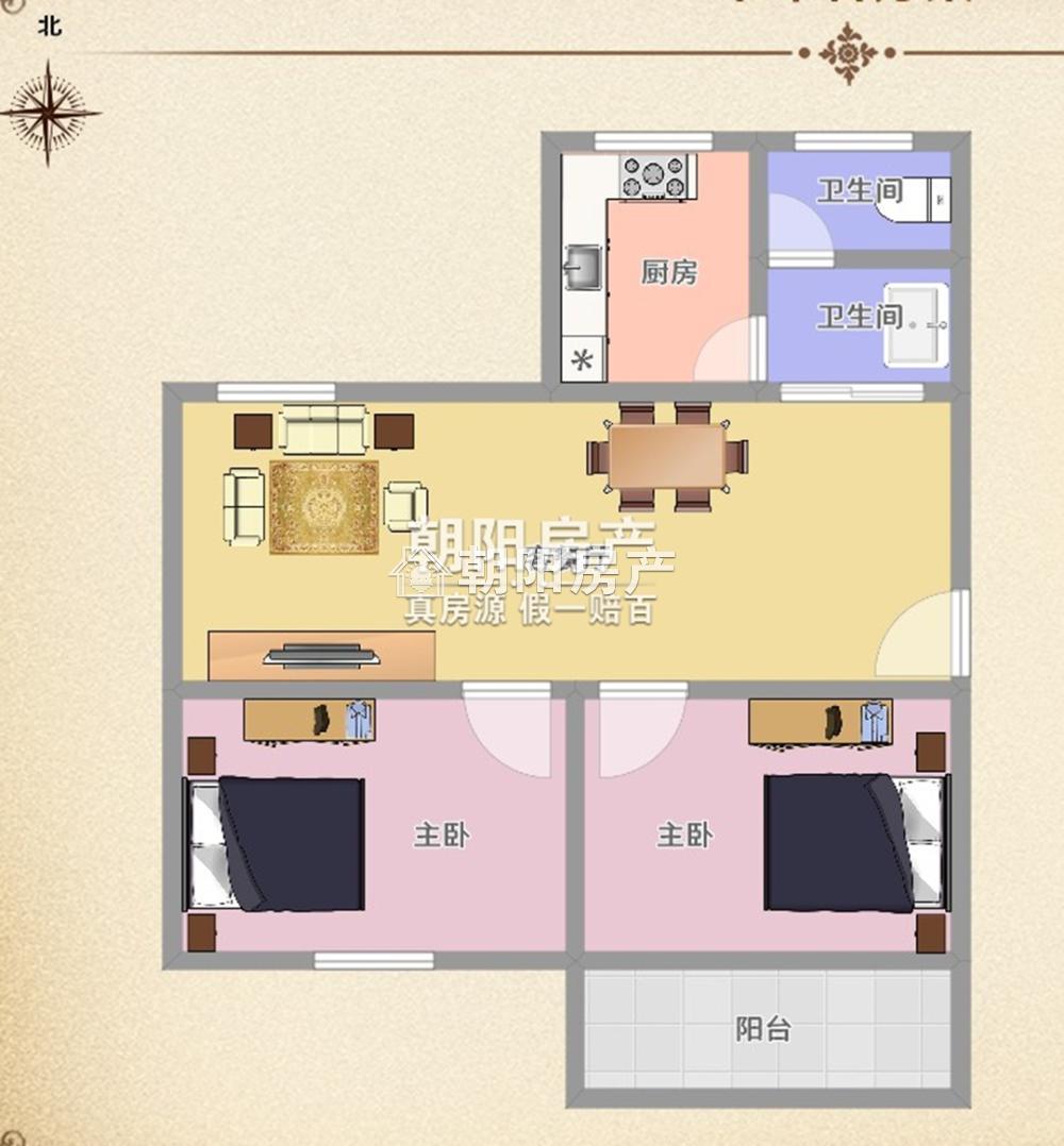 锦路小区21室1厅1卫60.96平方28.50万