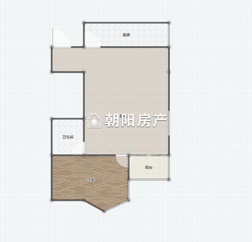 汇金广场1室1厅1卫55.28平方39.00万