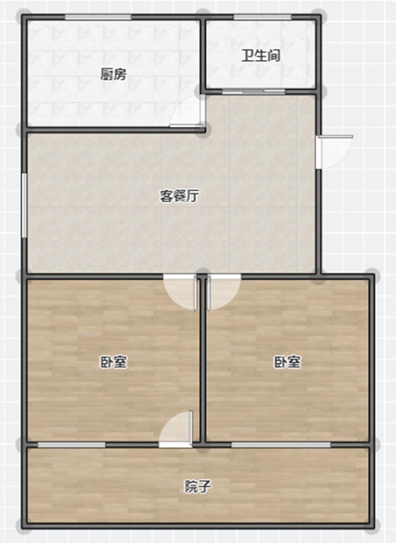 龙发小区2室2厅1卫92.62平方43.00万