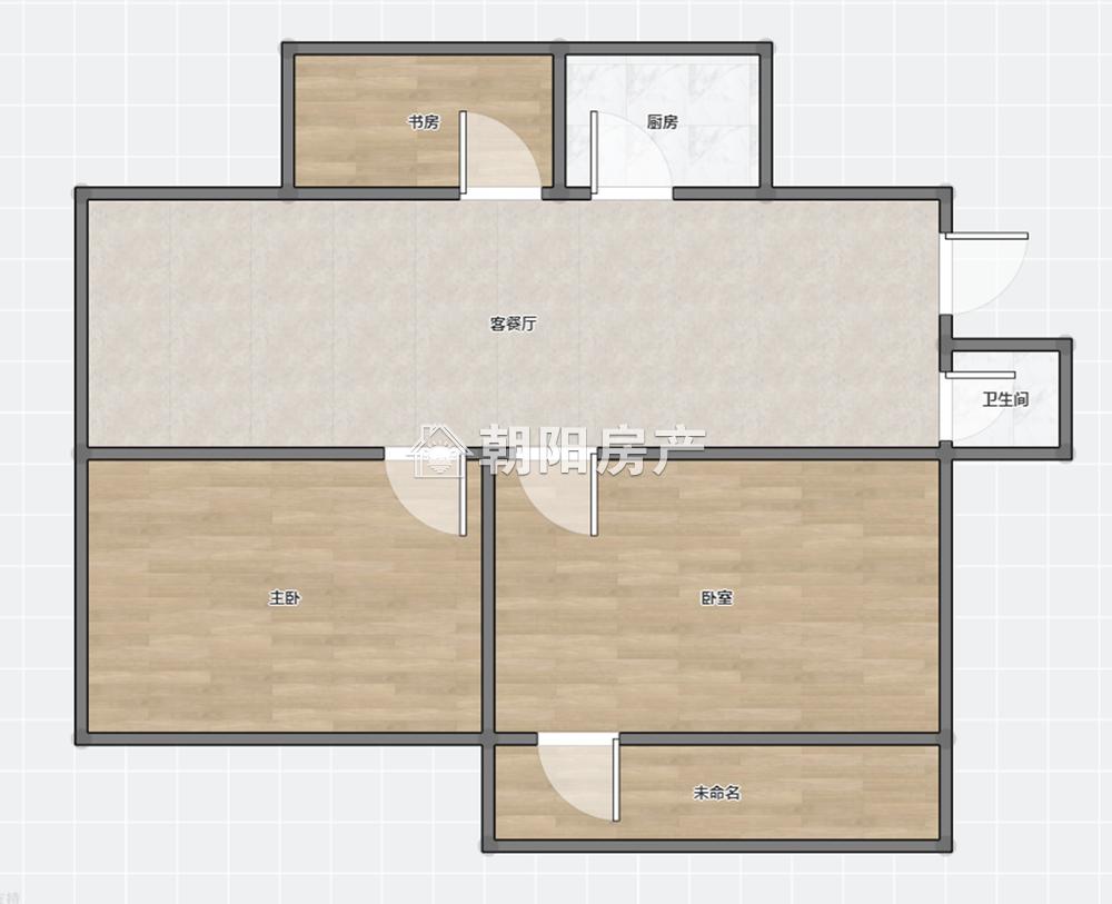 天桥小区3室1厅1卫75平方1200元/月