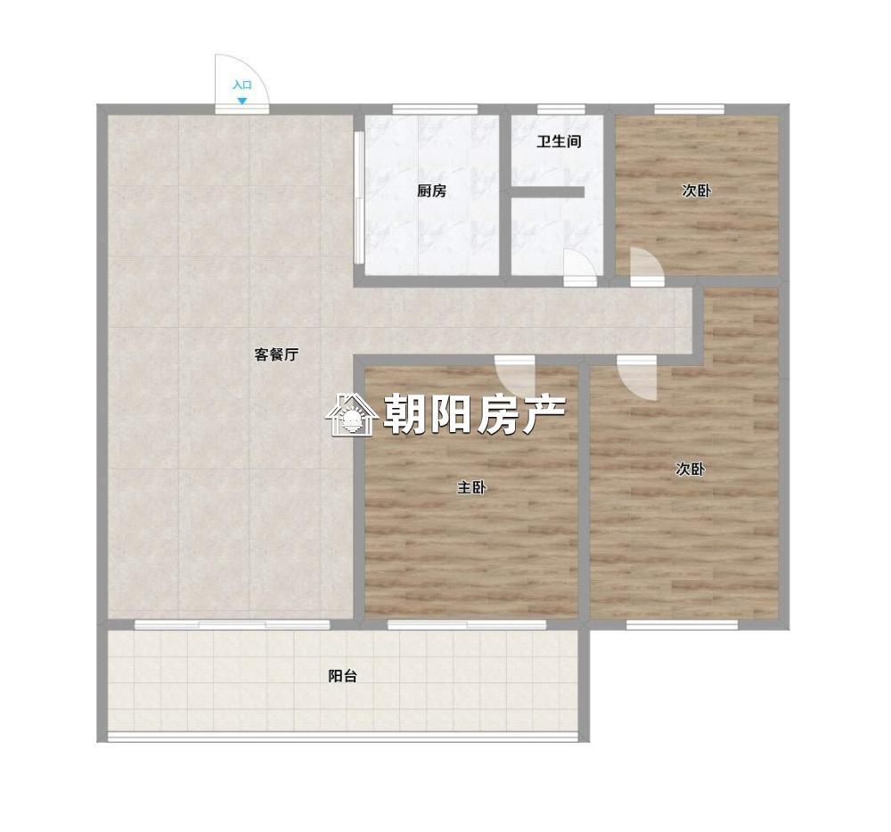 金地天悦(中央美域二期)3室2厅1卫100.43平方1700元/月