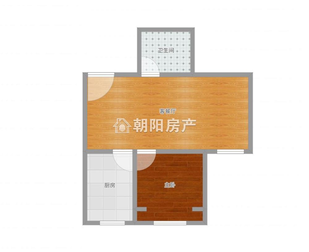 中化国际城D区1室1厅1卫54.99平方38.00万