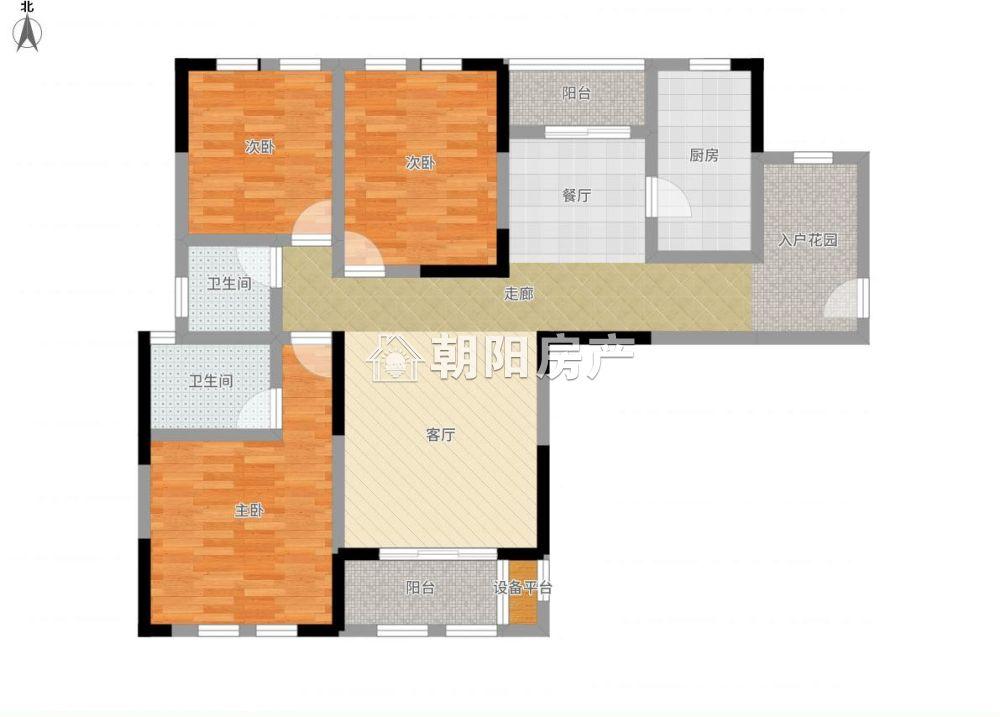 泉山湖兰乔公馆3室2厅1卫119.29平方85.00万