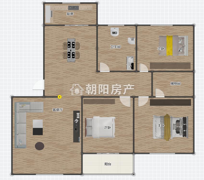 裕安三村3室2厅1卫133.51平方80.00万