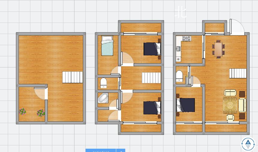 金地滟澜山精装下叠别墅送地下室221.65平米4室2厅2卫