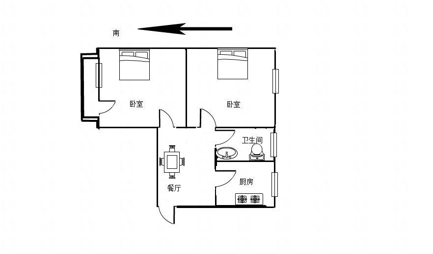十排楼2室1厅1卫59.06平方7.8万