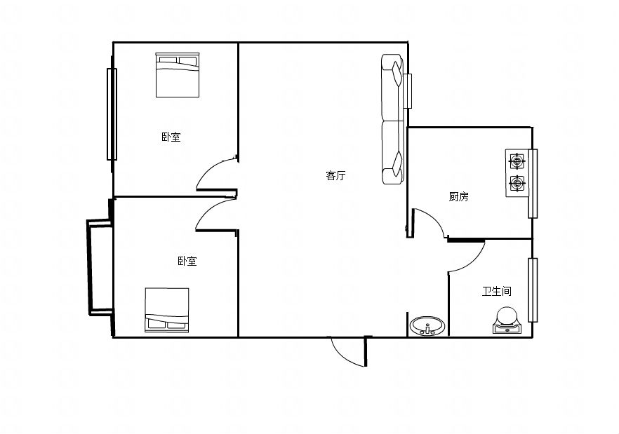 上游新村2室1厅1卫70平方14万