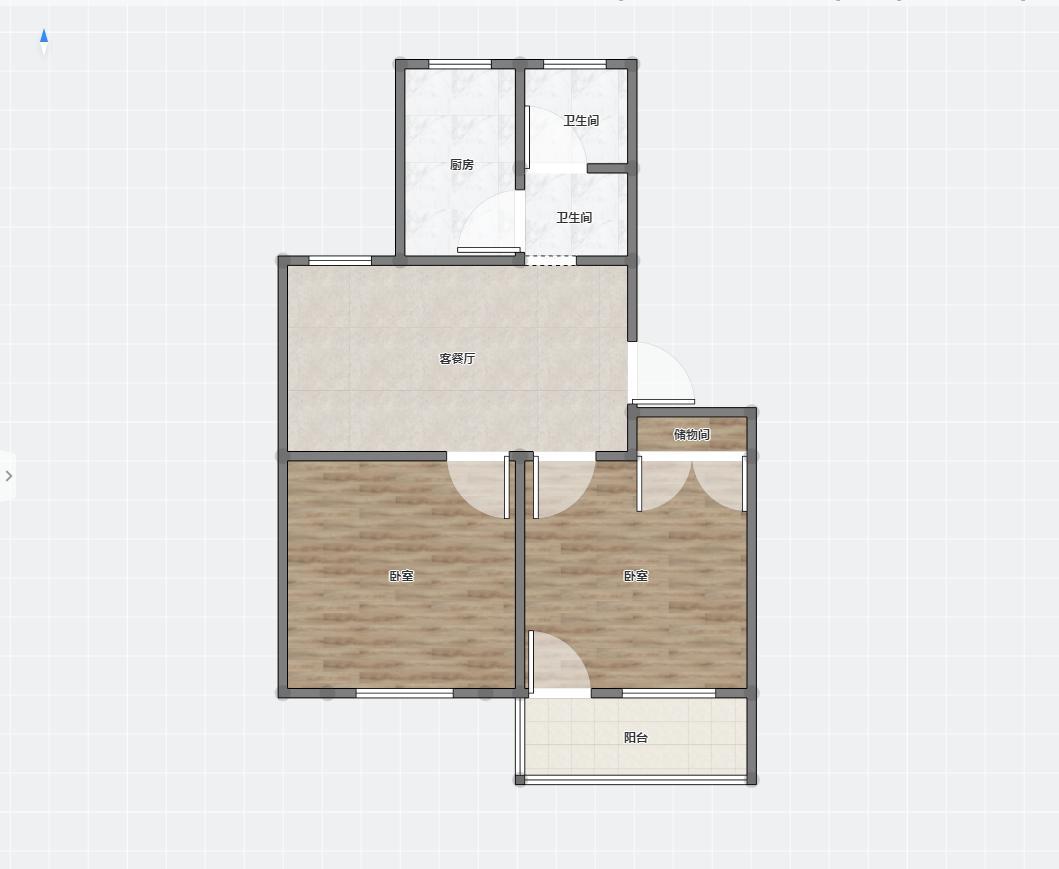 纸厂东苑20室1厅1卫64.31平方15.00万