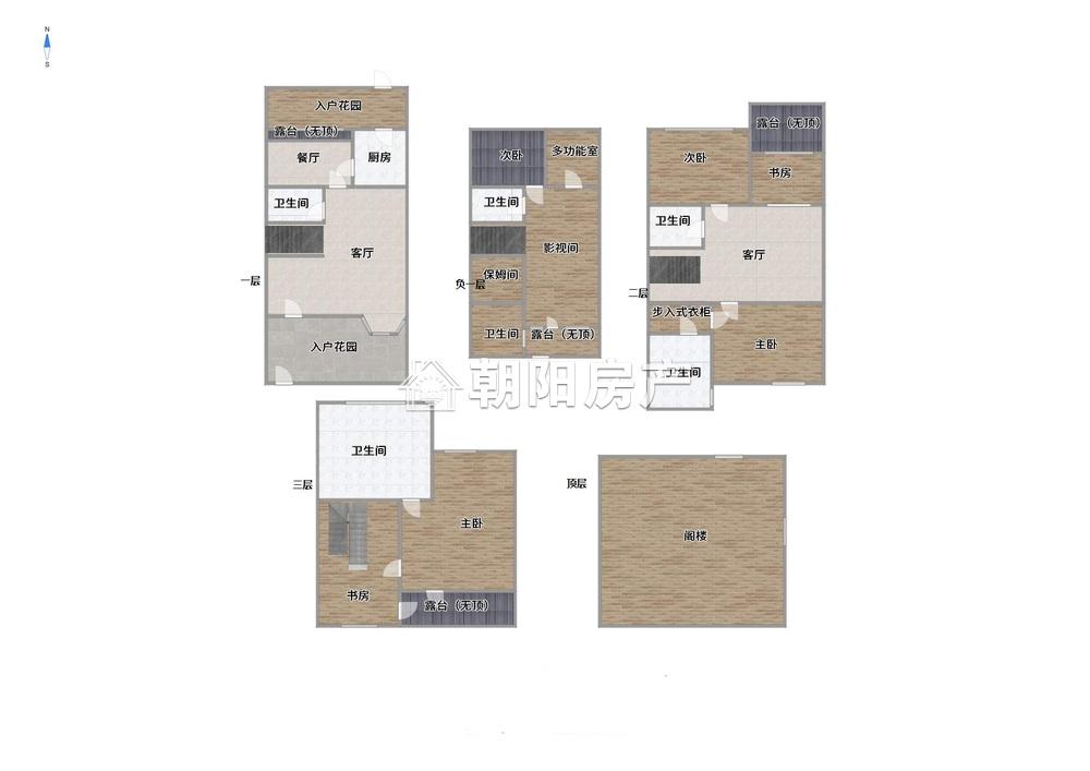 嶺秀山南5室5厅3卫359.11平方230.00万