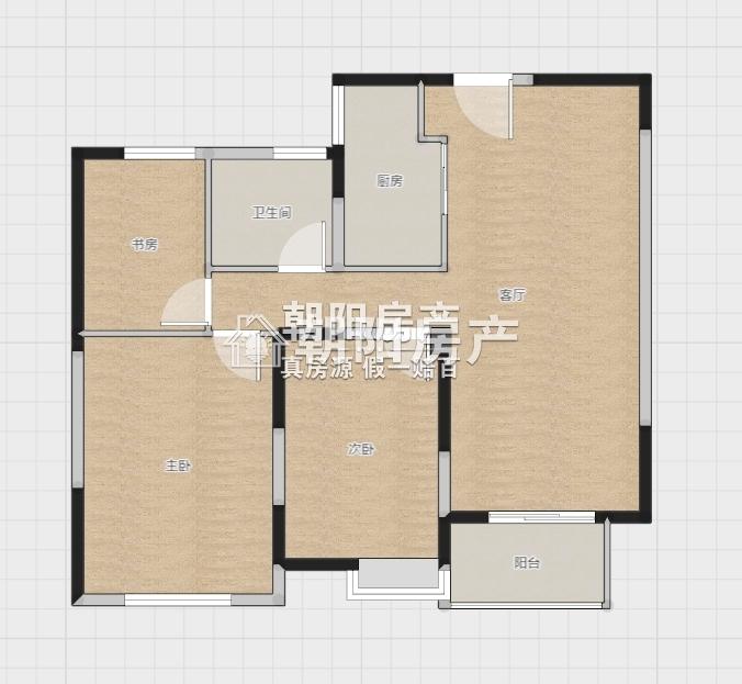 金大地英伦联邦3室2厅1卫92.26平方63.00万