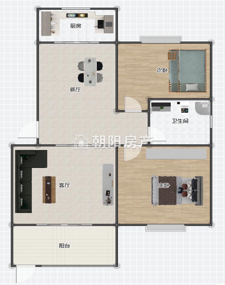 淮河嘉苑2室2厅1卫79.29平方45.00万