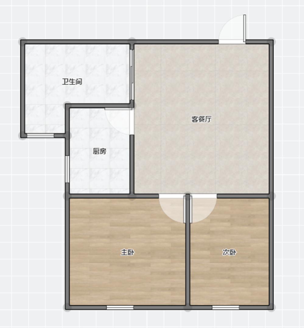 金地国际城二期阳光里1室1厅1卫40.67平方27.00万