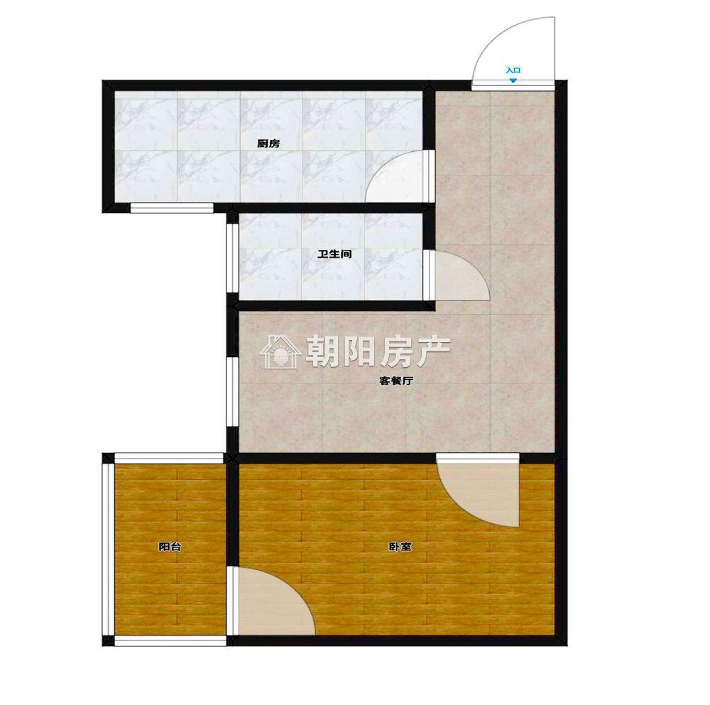 惠利学府春天1室1厅1卫53.45平方1200元/月